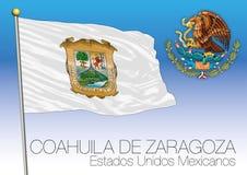Coahuila regional flag, United Mexican States, Mexico Royalty Free Stock Photo
