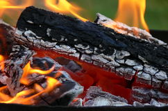 Coal 1. Charcoal fire Royalty Free Stock Photos
