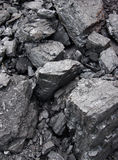 Coal. The background of large stones of coal Royalty Free Stock Photos
