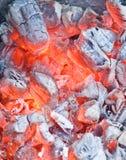 Coal. Macro shot of burning coal Royalty Free Stock Photos