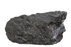 Coal Anthracite Block Royalty Free Stock Images