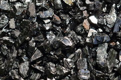 Coal anthracite of the middle fraction. Royalty Free Stock Photos