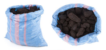 Coal bag isolated Royalty Free Stock Images