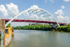 Free Coal Barge Being Pushed Up Te CUmberland River Near Downtown Nashville Stock Photo - 42335340