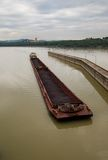 Coal Barge at Melk Royalty Free Stock Image