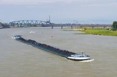 Coal barge Royalty Free Stock Photos