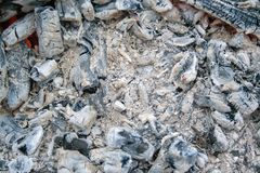 Coal in bonfire royalty free stock photography