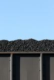 Coal in boxcar. Coal in train boxcar ready for shipment, vertical version Royalty Free Stock Photography