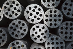 Coal briquettes. Coal on Isolated white background Royalty Free Stock Image