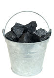 Coal in bucket Royalty Free Stock Photo