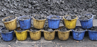 Coal Buckets. Royalty Free Stock Photo