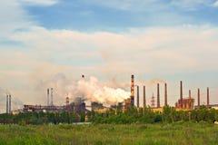 Coal burning power plant Stock Photo