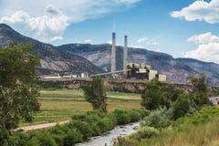 Coal Burning Power Plant in Central Utah Stock Photos