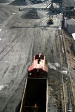 Coal Car. On railroad track Royalty Free Stock Image