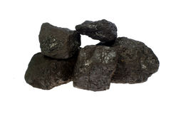 Coal, carbon nuggets stock image