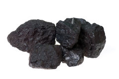 Coal, carbon nuggets stock images