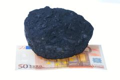 Coal, carbon nuggets royalty free stock image
