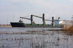 Coal cargo ship. Royalty Free Stock Photos