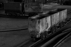 Coal cart Stock Images
