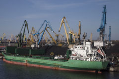 Coal charging harbor Stock Image