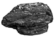 Coal close up on white background. Place for text. Copy space.High quality coal mined in Kuznetzk basin. Coal-basin.Kuzbass, Weste Royalty Free Stock Images