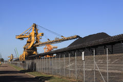 Coal Conveyor Belt Royalty Free Stock Photography