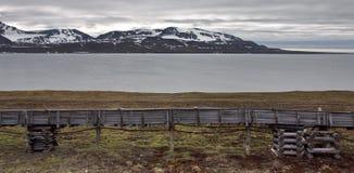 A Coal Conveyor Near Barentsburg (The Arctic) Stock Image