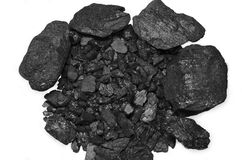 Coal cut out white background industry flower Stock Photos
