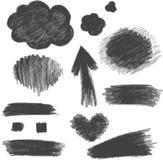 Coal. Design elements imitation texture coal Stock Photography