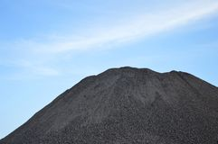 Coal dunes. Against blue sky Royalty Free Stock Photography