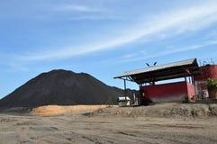 Coal dunes. At coal mining Royalty Free Stock Photos