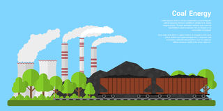 Coal energy banner Stock Photo