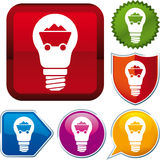 Coal energy icon. Vector coal energy icon on different buttons Royalty Free Stock Photography