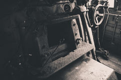Steam coal old engine detail Royalty Free Stock Photo