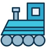 Coal engine Vector icon which can be easily modified or edit in any color vector illustration