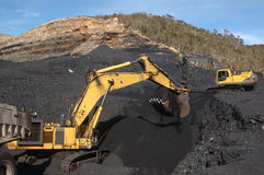 Coal excavating Royalty Free Stock Image