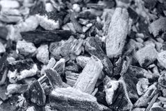 Coal. extinct fire. background. texture. black and white royalty free stock photography