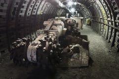 Coal extraction: Coal mine combine Stock Photos