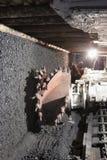 Coal extraction: Coal mine excavator Royalty Free Stock Photos