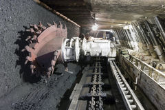 Coal extraction: Coal mine excavator Stock Photography