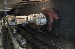 Coal extraction: Coal mine excavator Stock Photo