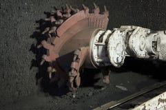 Coal extraction: Coal mine excavator Stock Images
