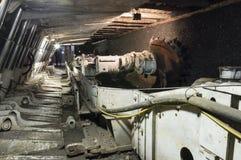 Coal extraction: Coal mine excavator Royalty Free Stock Photo