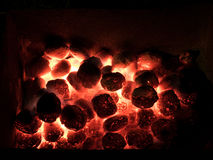 Coal and fire Royalty Free Stock Image