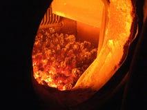 Coal fire grate boiler Stock Images