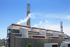 Coal fire power plant stock photography