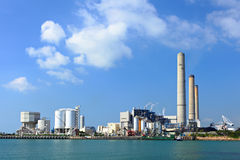 Coal fired electric power plant Royalty Free Stock Photo