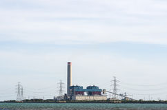 Coal fired electric power plant Royalty Free Stock Images