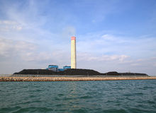 Coal fired electric power station Stock Images