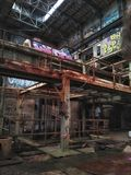 Market Street New Orleans abandoned power plant royalty free stock image